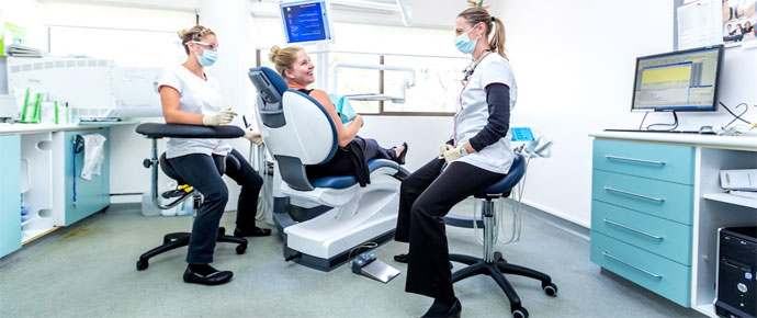 bambach saddle stool in dental practice health by design