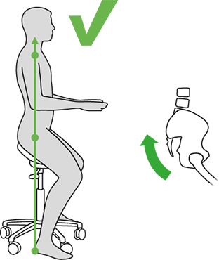 Salli Saddle Chair foot position