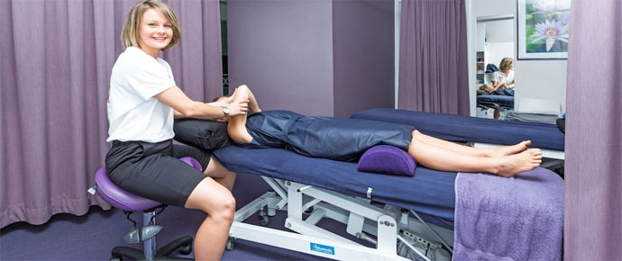 Physical Therapist using the Bambach Saddle Seat