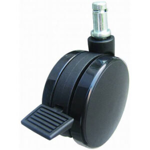 Toe-brake locking caster