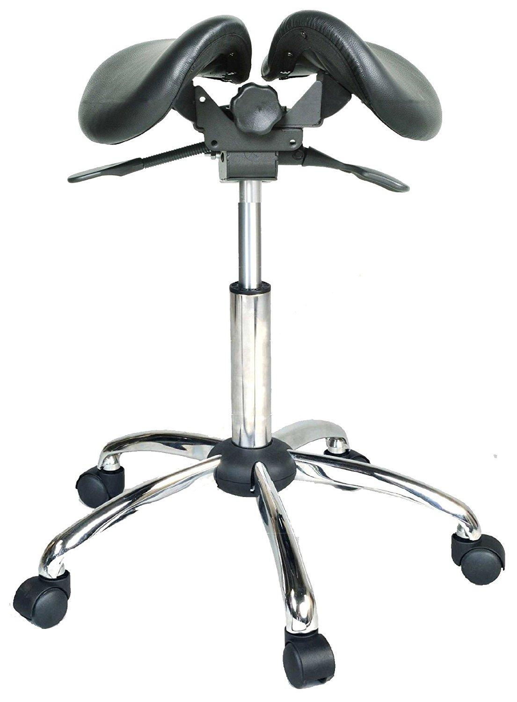 kanewell twin adjustable saddle chair leather ebay